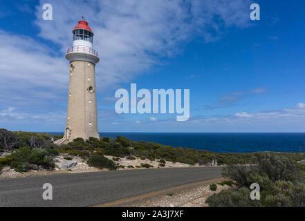 Cape Du Couedic lighthouse on Kangaroo Island of Australia - Stock Photo