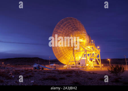A huge dish of antennas, for research and communication with space. Elements of this image were furnished by NASA. - Stock Photo
