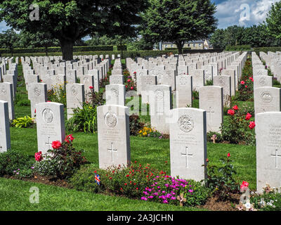 WWII British Cemetery in Bayeux, France. - Stock Photo