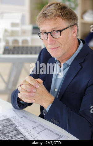 architect or engineer looking at the camera - Stock Photo