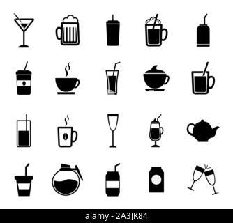 Drinks icon set vector design - Stock Photo