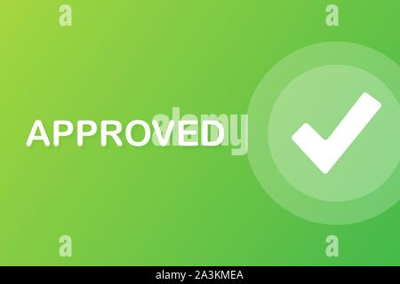 Approved medal. Round stamp for approved and tested product, software and services. Vector illustration. - Stock Photo