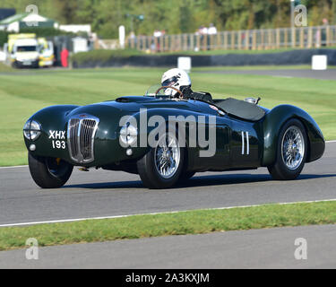 Freddie March Memorial Trophy, sports cars, 1952 to 1955, Goodwood Revival 2019, September 2019, automobiles, cars, circuit racing, Classic, competiti - Stock Photo