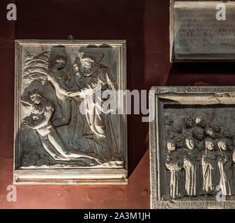 PARIS, FRANCE, SEPTEMBER 21, 2019 : interiors and decors of the Ecole des Beaux Arts, september 21, 2019, in Paris, France - Stock Photo