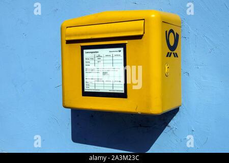 Deutsche Post box Germany - Stock Photo