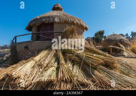 Andean Eco Village, museum in Huatajata, lakeside village of  Lake Titicaca, La Paz, Bolivia, Latin America