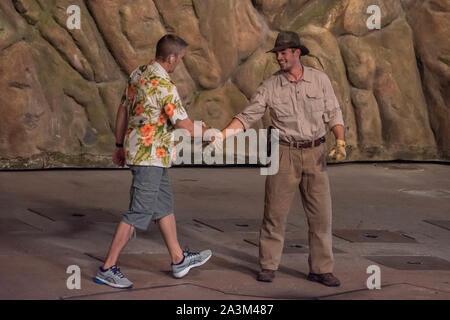 Orlando, Florida. September 27, 2019.  Indiana Jones and Film Director at Hollywood Studios - Stock Photo
