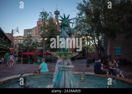 Orlando, Florida. September 27, 2019. Muppets Fountain at Hollywood Studios - Stock Photo