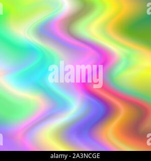 Abstract multicolored rainbow wave pattern psychedelic holographic background. - Stock Photo