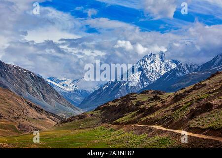 Himalayas. On the trek to Chandra Tal Lake 4300 m . Spiti, Himachal Pradesh, India - Stock Photo