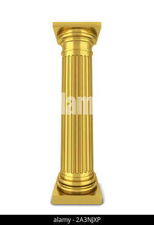 Classical column. 3d illustration isolated on white background - Stock Photo