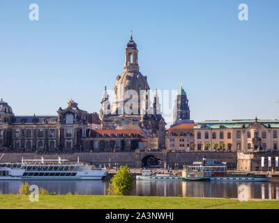 Skyline from Dresden in East Germany - Stock Photo