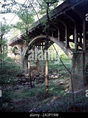 Sligo Creek Bridge, built in 1932 in Takoma Park, Maryland - Stock Photo