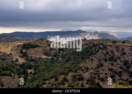 View of the desert of Tabernas in Province of Almeria, in Spain
