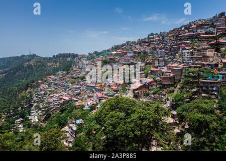 Shimla town, Himachal Pradesh, India - Stock Photo