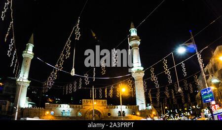 Ramadan decorations in Amman, Jordan - Stock Photo
