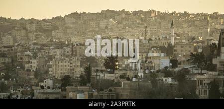 The sprawl of urban Amman, Jordan - Stock Photo