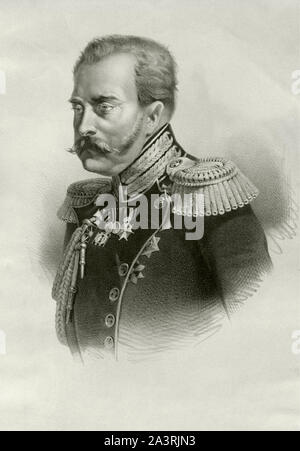 Grand Duke Michael Pavlovich of Russia (Mikhail Pavlovich) (1798 – 1849) was a Russian prince, the tenth child and fourth son of Paul I of Russia and - Stock Photo