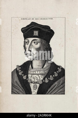 History of France. Charles VIII, called the Affable (1470 – 1498), was King of France from 1483 to his death in 1498. He succeeded his father Louis XI - Stock Photo