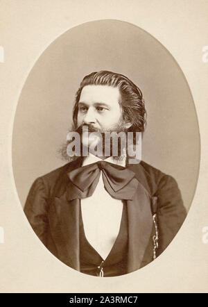 Johann Strauss II (1825 – 1899), also known as Johann Strauss Jr., the Younger, the Son, son of Johann Strauss I, was an Austrian composer of light mu - Stock Photo