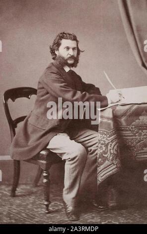 Johann Strauss II (1825 – 1899), also known as Johann Strauss Jr., the Younger, the Son, son of Johann Strauss I, was an Austrian composer of light mu - Stock Photo