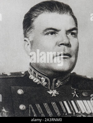 Rodion Yakovlevich Malinovsky (1898 – 1967) was a Soviet military commander in World War II, Marshal of the Soviet Union, and Defense Minister of the - Stock Photo