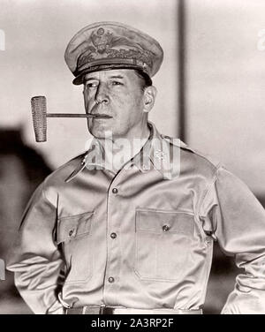 General of the Army Douglas MacArthur (1880 – 1964) was an American five-star general and Field Marshal of the Philippine Army. He was Chief of Staff - Stock Photo
