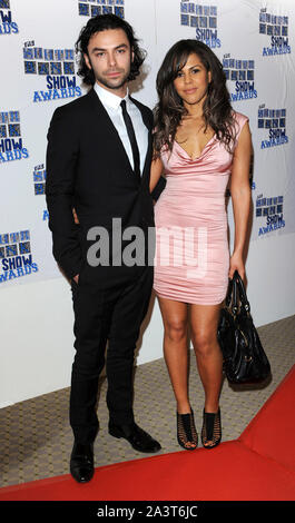 Photo Must Be Credited ©Alpha Press 072910 26/01/10 Aidan Turner and Lenora Crichlow at the South Bank Show Awards held at The Dorchester Hotel in London - Stock Photo