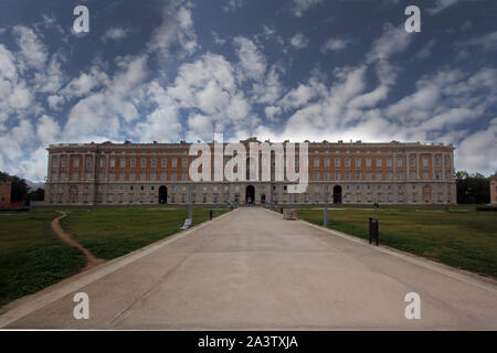 Caserta, Italy - September 25, 2019: The Royal Palace of Caserta - Stock Photo