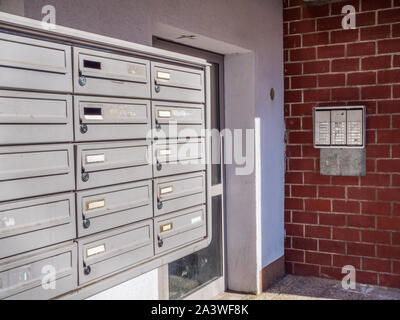Social housing mailboxes - Stock Photo