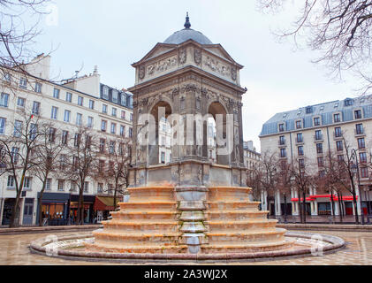 Fontaine des Innocents in Paris - Stock Photo