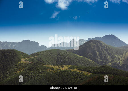 Tatra Mountains is a mountain range that forms a natural border between Slovakia and Poland - Stock Photo