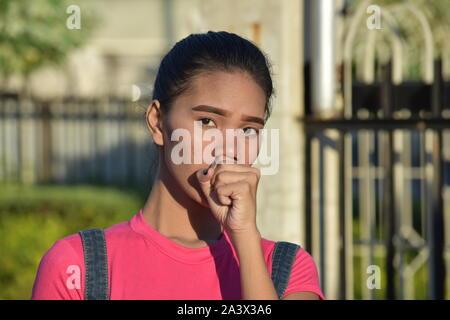 Sick Female Woman - Stock Photo