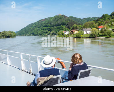 Tourism shipping on the Danube - Stock Photo