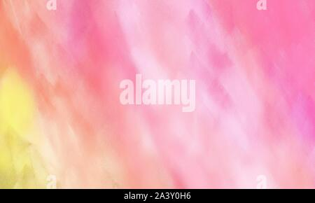 fine brush painted background with pastel magenta, light pink and pale golden rod color and space for text - Stock Photo