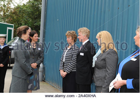 Royal Family Princess Anne visiting the RDA in Hereford - Stock Photo