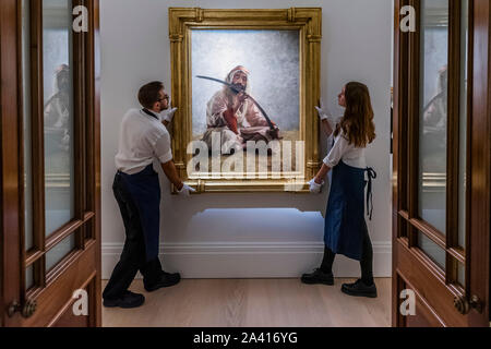 London, UK. 11th Oct, 2019. Pictures in the exhibition, but not for sale - Sotheby's Offer 40 Works from the Legendary Najd Collection in a Dedicated Auction on the Evening of 22 October 2019. All 155 Paintings, Never-Before-Seen Together as a Group, will be on Public View from 11 – 15 October. Credit: Guy Bell/Alamy Live News - Stock Photo