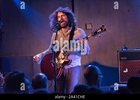 Brudenell Social Club, Leeds, UK. 3rd October 2019. US indie band Sebadoh in concert. Lou Barlow singer and guitarist. - Stock Photo