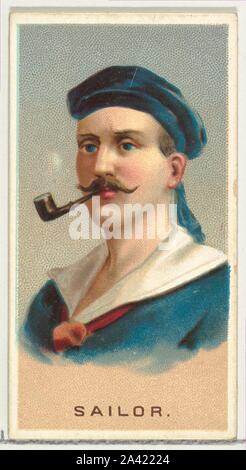 Sailor, from World's Smokers series (N33) for Allen & Ginter Cigarettes.jpg - 2A42224 - Stock Photo