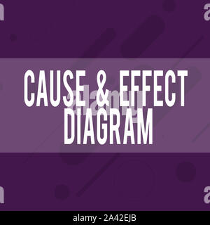 Handwriting text writing Cause And Effect Diagram. Conceptual photo Visualization tool to categorize potential causes Oblong Geometric Shape Angle Pat - Stock Photo
