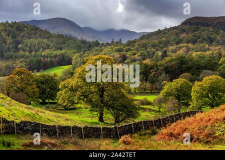 elterwater village,great langdale valley,lake district national park, cumbria, england, uk gb - Stock Photo