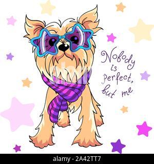 Vector Yorkshire terrier dog - Stock Photo