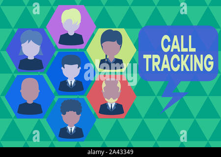 Handwriting text writing Call Tracking. Conceptual photo Organic search engine Digital advertising Conversion indicator Pictures frames chief executiv - Stock Photo