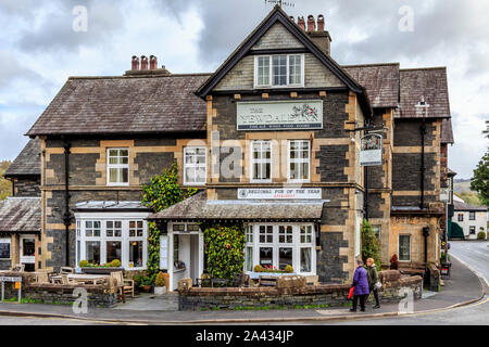 the yewdale inn, coniston town centre, lake district national park, cumbria, england, uk gb - Stock Photo