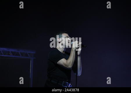 London, UK. 11th Oct, 2019. UK pop icon Will Young entertained the audience at the Eventim Apollo, Hammersmith as part of his UK tour in support of his new album, Lexikon. Credit: Uwe Deffner/Alamy Live News - Stock Photo