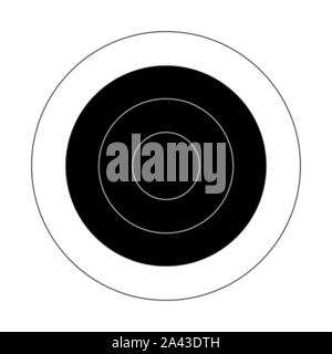 Circular target for the shooting practice on a rifle range - Stock Photo