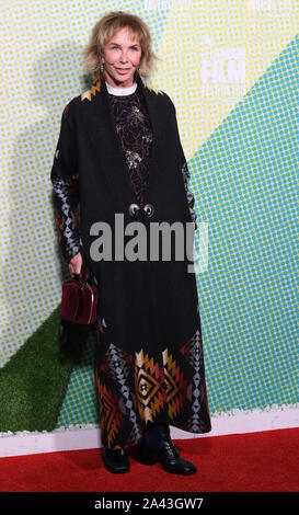 London, UK. 11th Oct, 2019. British producer Trudie Styler attends the premiere of Western Stars at the 63rd BFI London Film Festival on October 11, 2019. Photo by Rune Hellestad/UPI Credit: UPI/Alamy Live News - Stock Photo