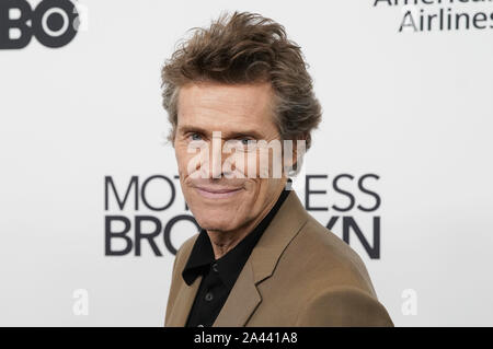 New York, United States. 11th Oct, 2019. Willem Dafoe arrives on the red carpet at the 'Motherless Brooklyn' premiere during the 57th New York Film Festival in New York City on Friday, October 11, 2019. Photo by John Angelillo/UPI Credit: UPI/Alamy Live News - Stock Photo