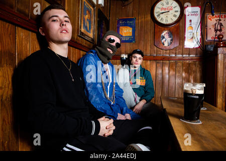 Irish Language Rap Group Kneecap - Stock Photo