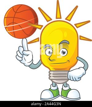 With basketball lamp for light in the home.
